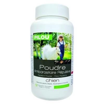 法國皮樂Pilou第二代加強升級-非藥用除蚤蝨乾洗粉-犬用150g 兩罐組