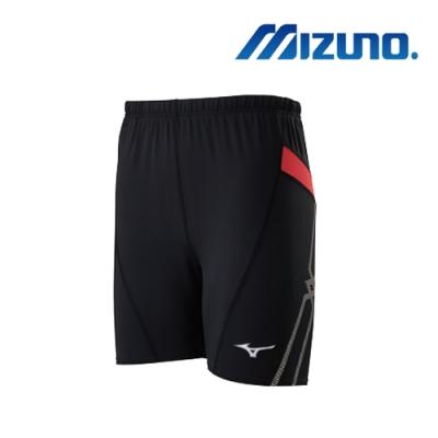 MIZUNO 美津濃 男短型緊身褲 黑 U2TB0G0309