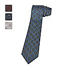 [時時樂限定]GUCCI經典緹花LOGO蠶絲菱格紋設計領帶(2色)