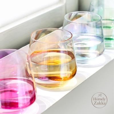 Homely Zakka 創意炫彩玻璃杯/酒杯/果汁杯(360ml)_炫彩紅
