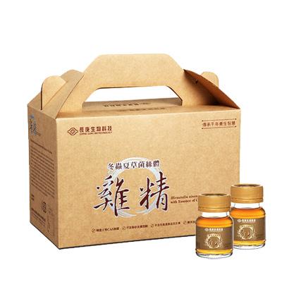 長庚生技 家庭裝冬蟲夏草菌絲體雞精1盒(30瓶/盒;40毫升/瓶)