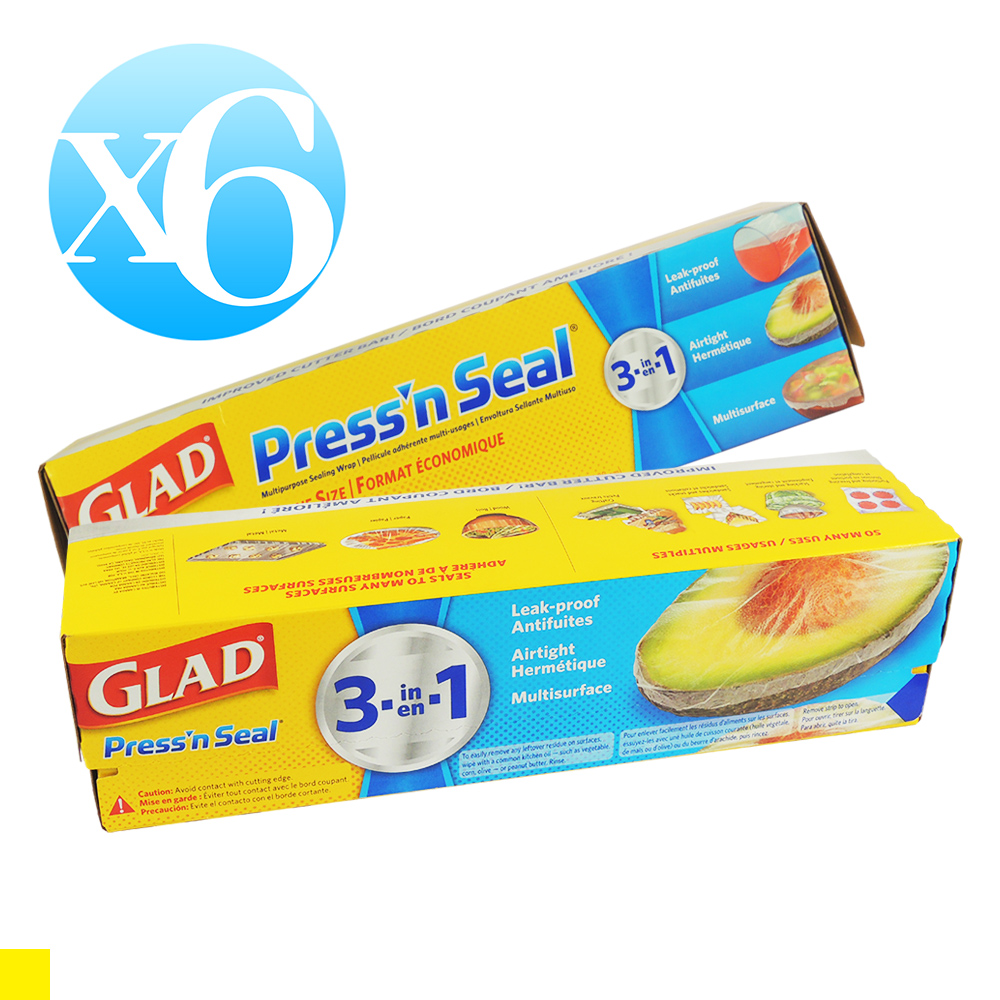 GLAD Press'n Seal 強力保鮮膜-6入組