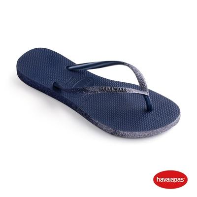Havaianas哈瓦仕 拖鞋 夾腳拖鞋 巴西 女鞋 海軍藍 4146093-0555W Slim Sparkle