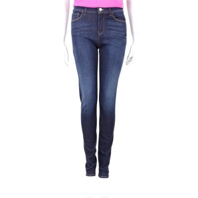 Emporio Armani J20 Skinny Fit 金屬老鷹標誌深藍色彈性窄管牛仔褲