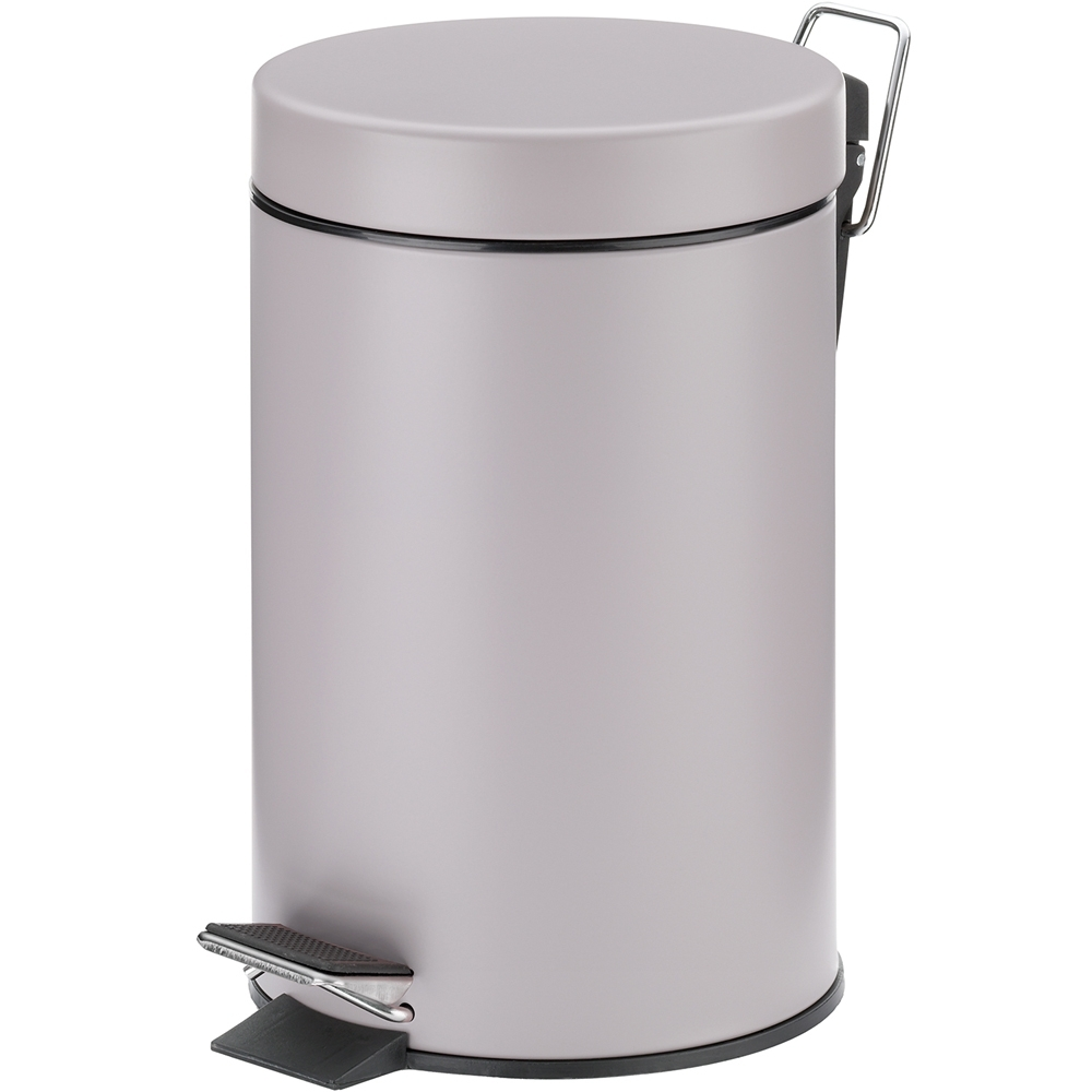 《KELA》簡約腳踏式垃圾桶(暖灰3L)