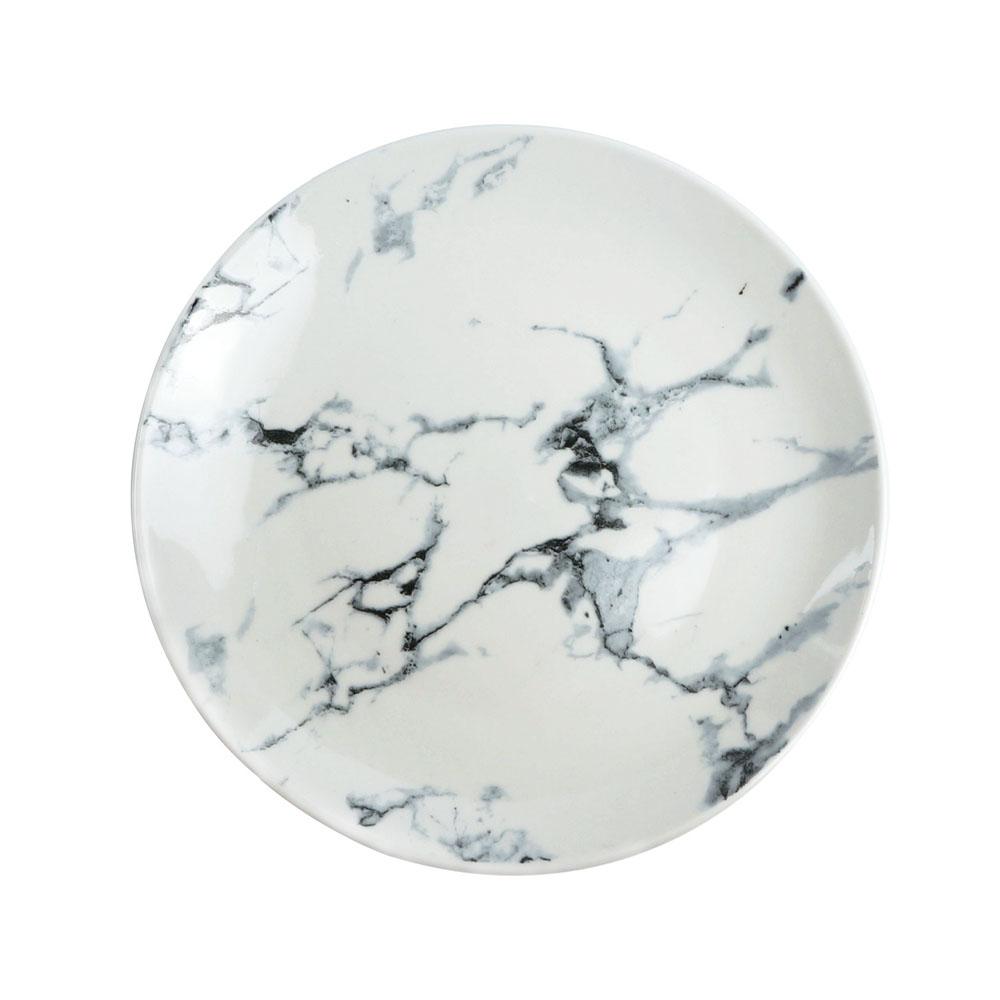 Caldo卡朵生活 美式百搭經典大理石紋8吋陶瓷餐盤