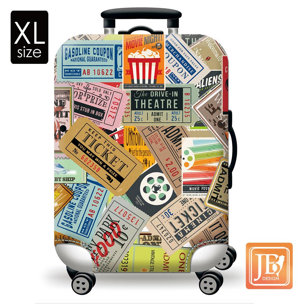 繽紛行李箱套-美式搖滾XL