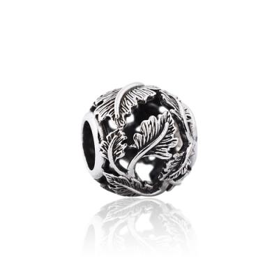Pandora 潘朵拉 魅力鏤空葉子 純銀墜飾 串珠