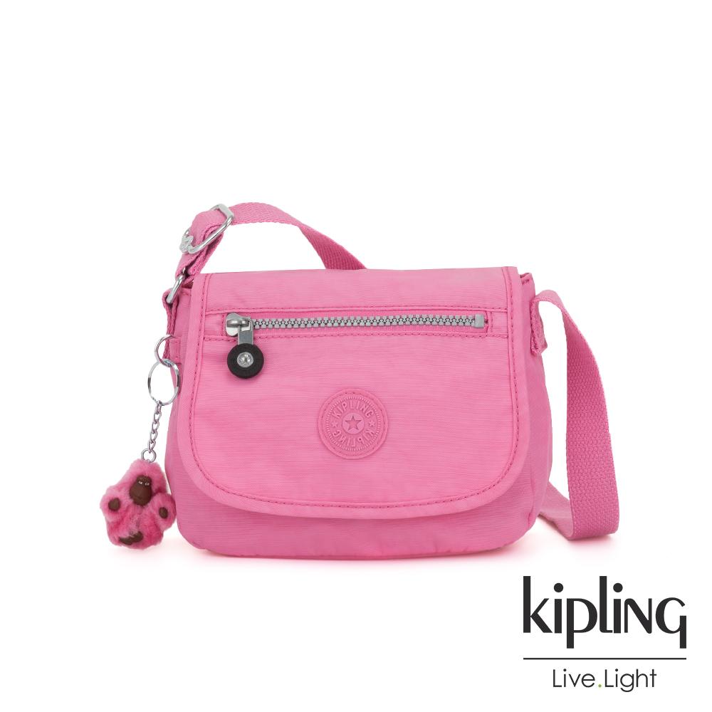 Kipling 甜美糖果粉掀蓋側背小包-SABIAN