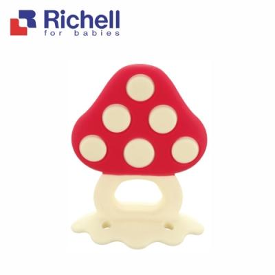 【Richell 利其爾】咬咬固齒器_魔力菇_附盒(日本牙醫師推薦使用)