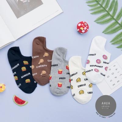 阿華有事嗎 韓國襪子 滿版速食物短襪 韓妞必備短襪 正韓百搭卡通襪