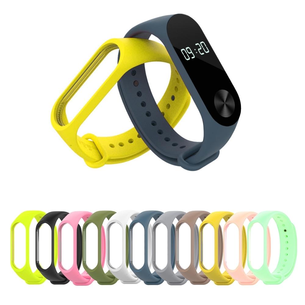 Adpe 小米3 / 4 / 5 純色矽膠手環錶帶