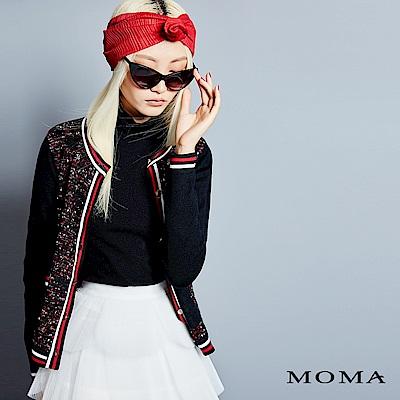 MOMA 小香風混色針織外套