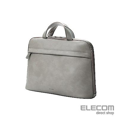 ELECOM BETSUMO 軟皮手提包13.3吋-灰