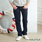Nautica原色修身直筒牛仔褲-深藍