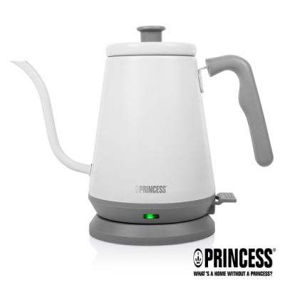 PRINCESS荷蘭公主0.8L手沖細口快煮壺(冰山白)236037
