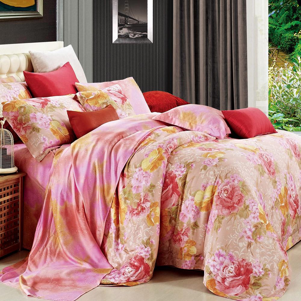 Betrise浪漫假期 特大-100%奧地利天絲四件式兩用被床包組