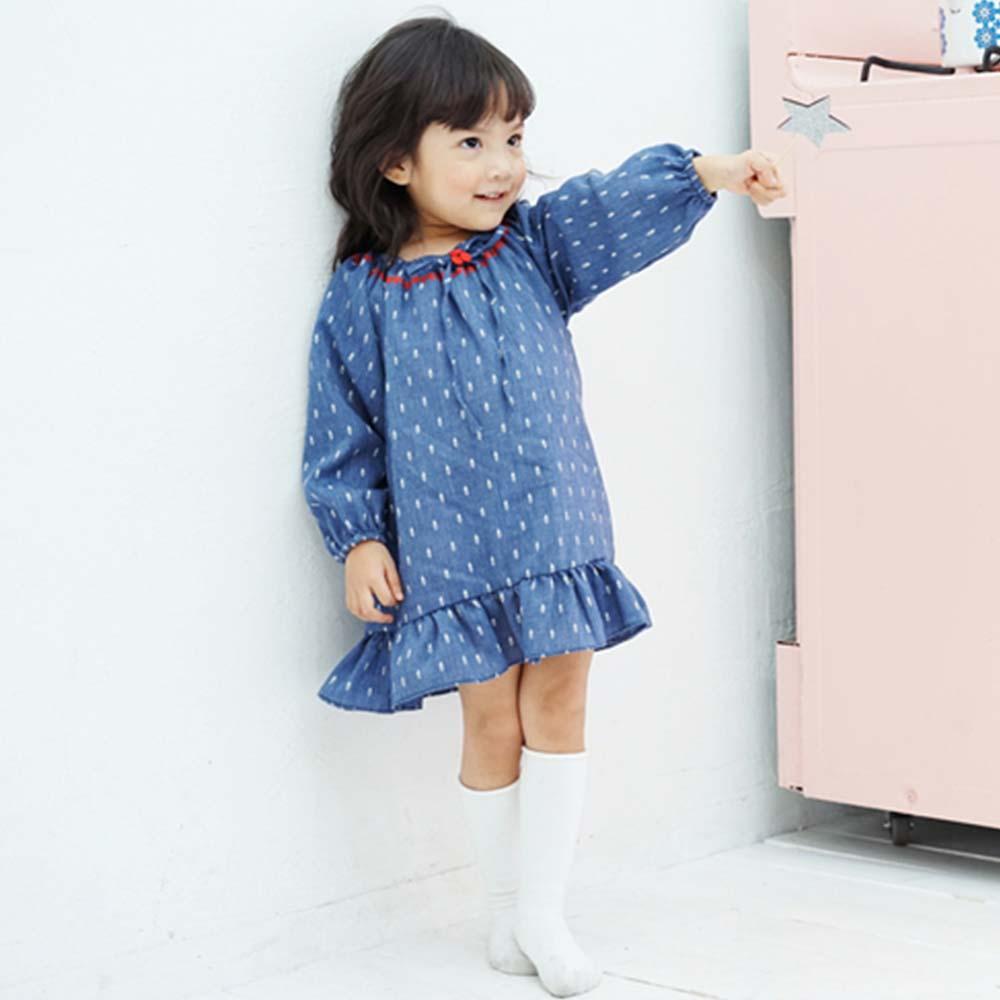 Baby unicorn 幾何民族風長袖洋裝