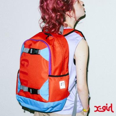 X-girl #1 SK8 SKATE BACKPACK後背包-橘