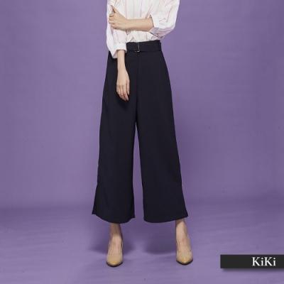 新降【KiKi】上班族必備高質感寬-長褲(二色)