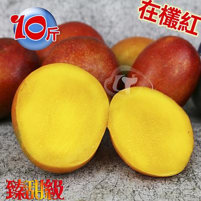 風之果 枋山40年老欉臻甜級愛文芒果禮盒10台斤(24-25顆)250-230g