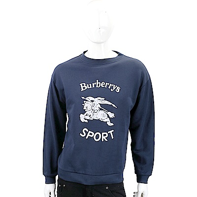 BURBERRY Roehampton 再版系列海軍藍平織運動衫