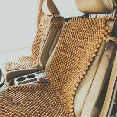 絲薇諾 檜木圓珠汽車套頭坐墊
