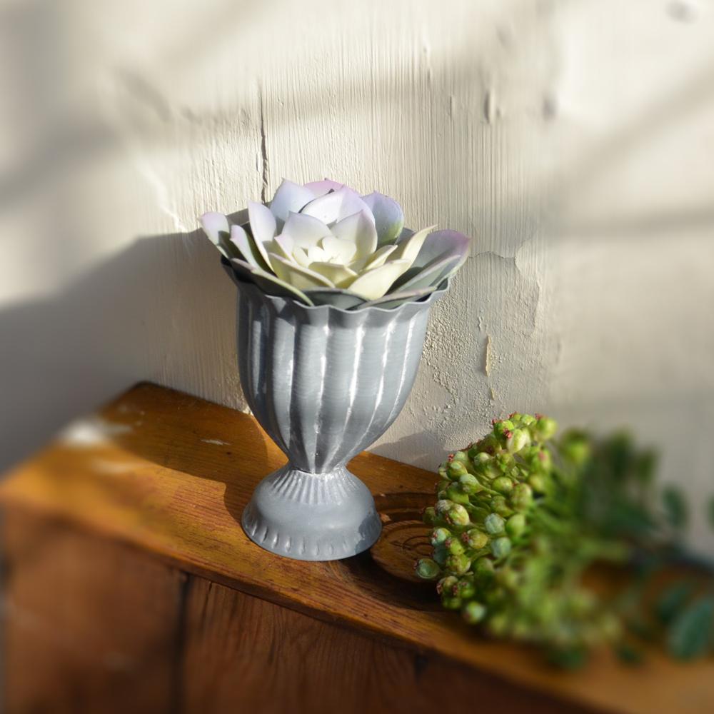 【Meric Garden】西方古典多肉植物微景觀鐵藝聖杯(M)