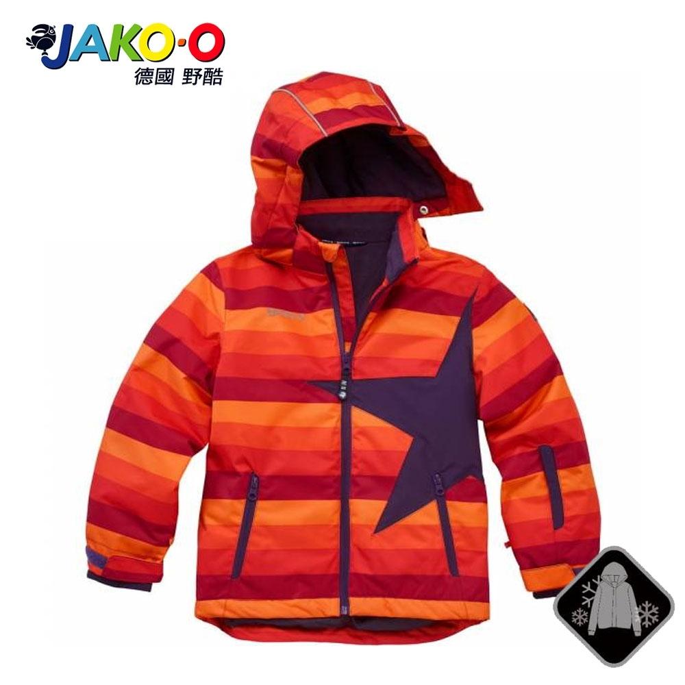 JAKO-O 德國野酷-經典星星雪衣外套-橘條 (兒童雪衣/滑雪)