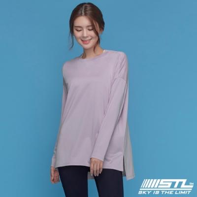 STL yoga Metro NY LS 韓國瑜珈 運動機能 地鐵 蓋臀長版寬鬆長袖上衣 灰濛紫