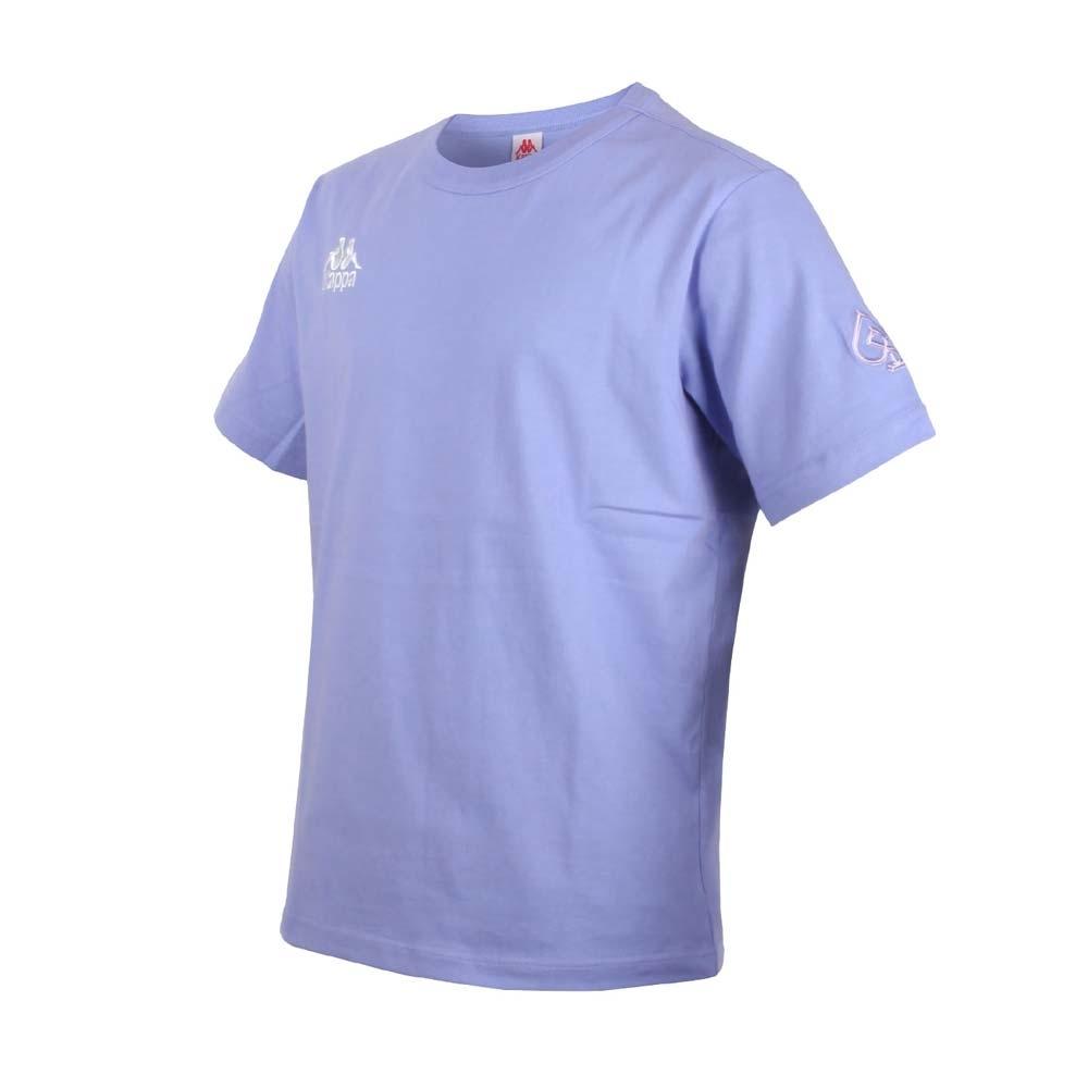 KAPPA DD52聯名男女短袖T恤-限量-菱格世代 純棉 台灣製 休閒上衣 33145BW-WHY 粉紫白