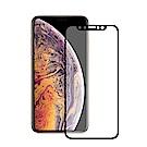 TEKQ iPhone XS Max康寧3D滿版9H鋼化玻璃6.5吋螢幕保護貼-黑