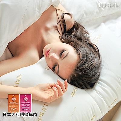 義大利La Belle 經典純色 防蹣抗菌舒眠壓縮枕 -二入