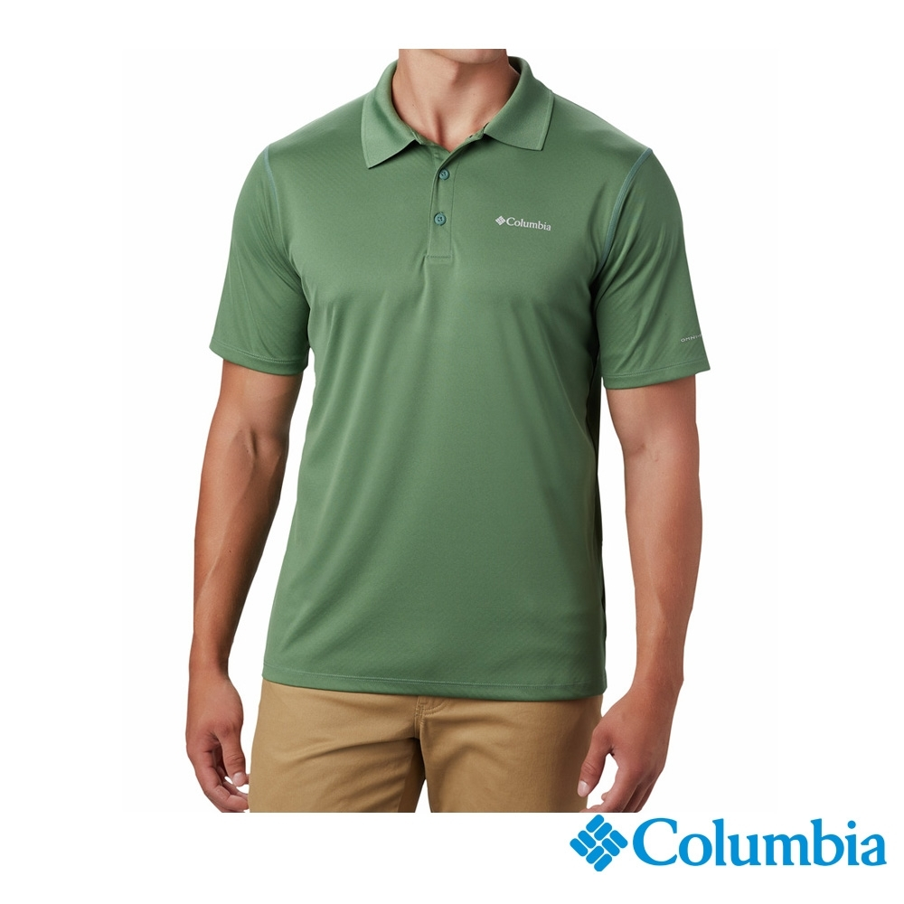 Columbia 哥倫比亞 男款- 涼感快排防曬30 Polo衫 綠色  UAE60820GR