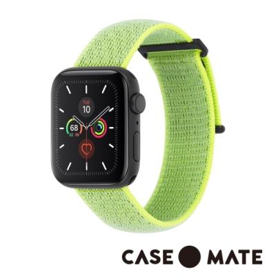美國 CASE●MATE Apple Watch 5代通用 38-40mm 尼龍運動型舒適錶帶 - 霓虹綠