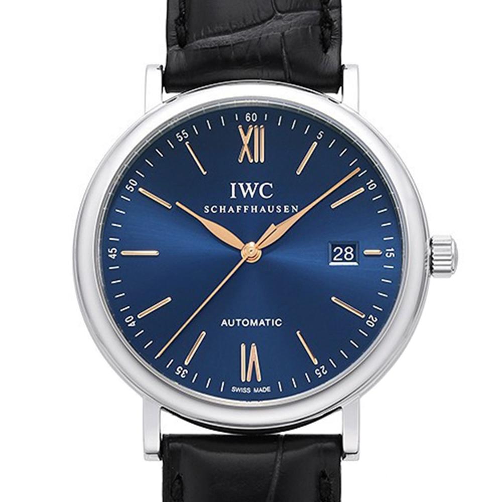 IWC 萬國錶 Portofino柏濤菲諾經典皮帶腕錶(IW356523)x藍面x40mm