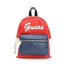 GUESS-女包-撞色拼接小型後背包-紅