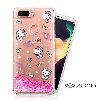 Hello Kitty OPPO R15 亮片流沙手機軟殼 - 繽紛