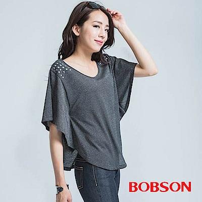 BOBSON  女款展袖寬版上衣