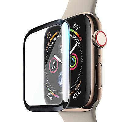 CITY Apple Watch Series 4 40mm 滿版全膠曲面玻璃貼