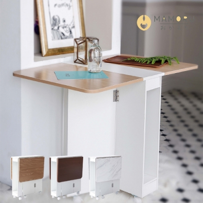 日式移動多功能摺疊餐桌 3色任選(折疊桌/置物桌/邊桌)
