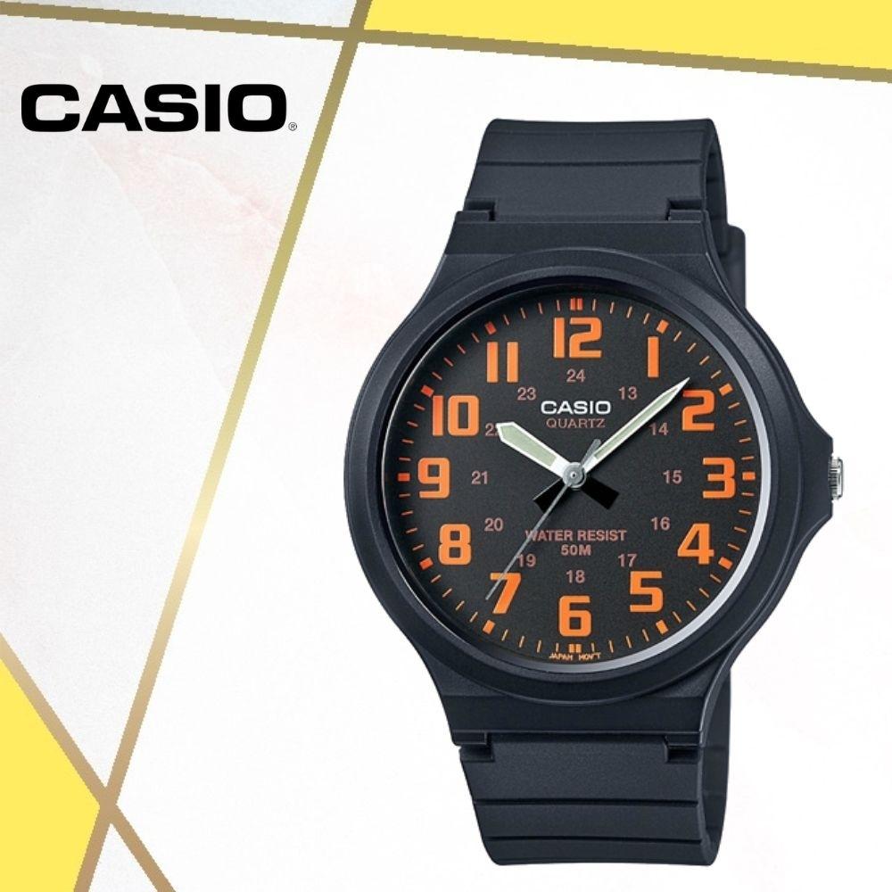 CASIO卡西歐 經典大錶面指針錶(MW-240-4B)/48mm