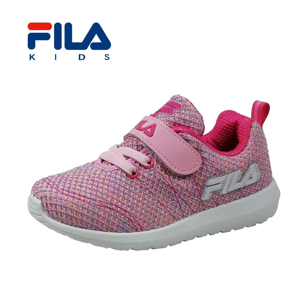 FILA 摩登慢跑鞋 粉桃 中童(4~6歲) 2-J829T-551