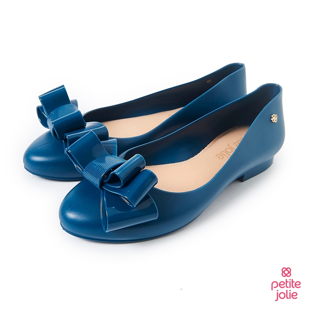 Petite Jolie--可愛麻花捲果凍娃娃鞋-蔚藍