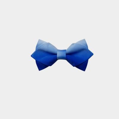Laifuu拉福,尖角領結立體新郎結婚領結糾糾(漸變藍)