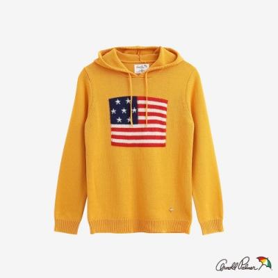 Arnold Palmer -女裝-USA國旗緹花連帽線衫-黃