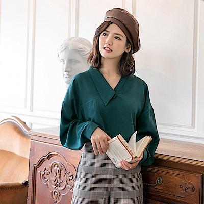 iMODA STAR-臧芮軒。純色造型領雪紡上衣