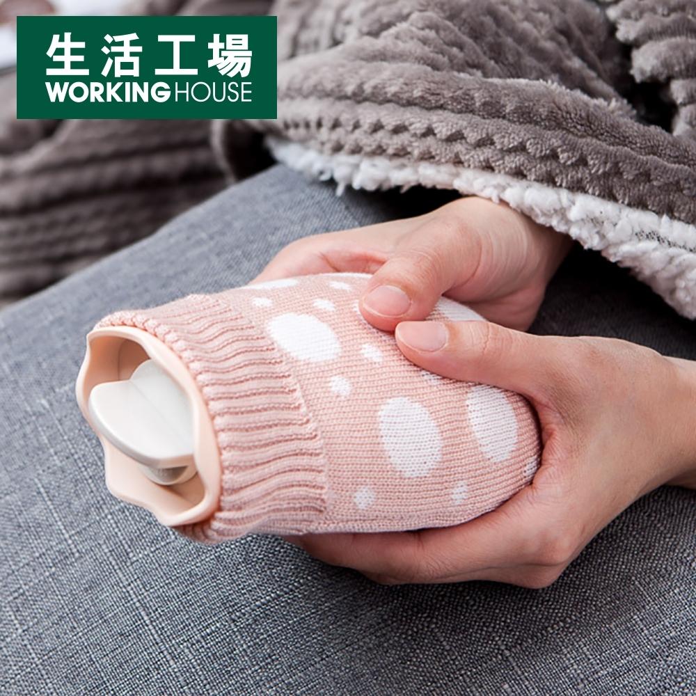 【生活工場】敦敦熊萌趣矽膠暖水袋-粉