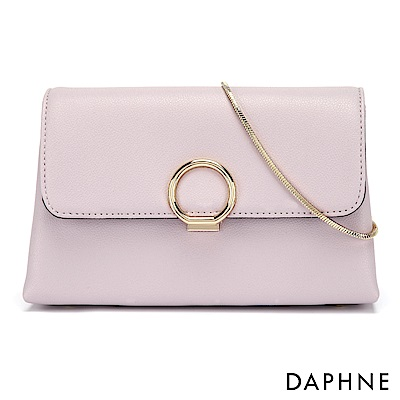 達芙妮DAPHNE-閃耀圓扣鍊帶小方包-淺紫色