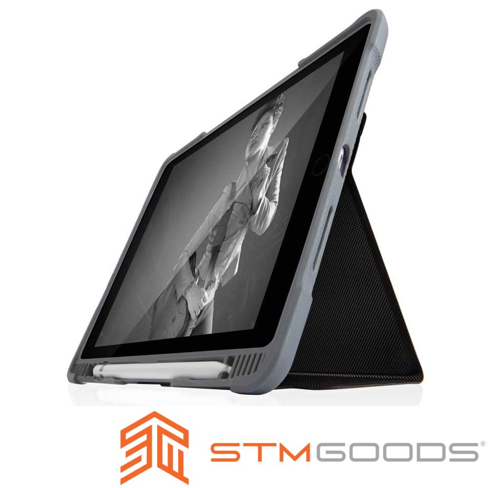 澳洲STM Dux Plus Duo iPad 9.7吋 (第六代) 專用軍規防摔殼-黑